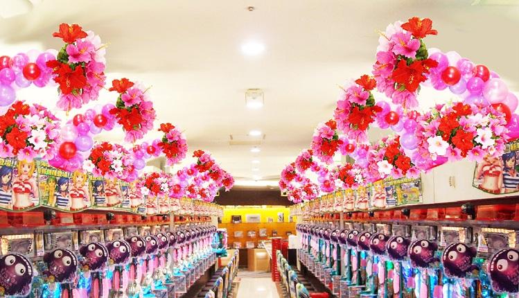 パチンコ店バルーン装飾