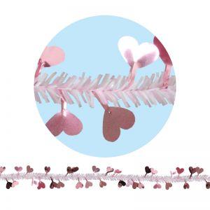 【春装飾】ハートモール PI(3本セット)イメージ