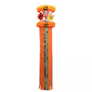 【七夕特集】1尺ホロスター七夕吹き流し 橙イメージ