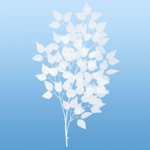 【冬装飾】ホワイトリーフブランチ(12本セット)@616円イメージ
