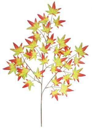 【秋装飾】スプレイ紅葉(33枚)オレンジ(36本セット)イメージ