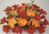 【フラワー装飾】ハイビスカスフラワーベース(レッド×オレンジ)イメージ