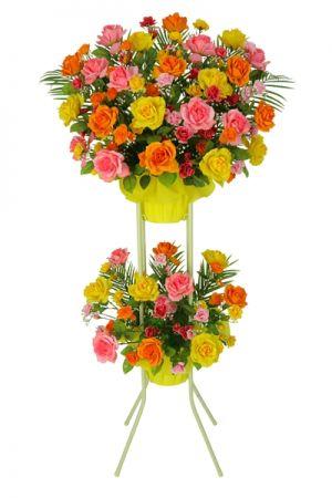 【フラワー装飾】開店祝いスタンド ローズイメージ