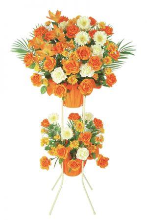 【フラワー装飾】開店祝いスタンド ローズガーベライメージ