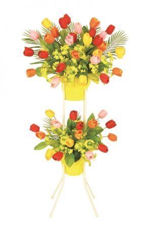 【フラワー装飾】祝い造花スタンド 春イメージ