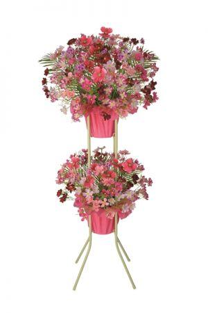 【フラワー装飾】祝い造花スタンド 秋イメージ