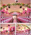 【フラワー装飾】フラワーベース オレンジヤシ&ハイビスカスレッドオレンジイメージ3