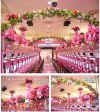 【フラワー装飾】フラワーベース(島上造花装飾) ヤシ&ハイビスカスピンクオレンジイメージ3