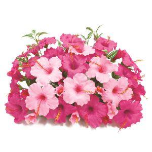 【フラワー装飾】フラワーベース ハイビスカス2色 ビューティーピンク イメージ