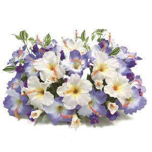 【フラワー装飾】フラワーベース ハイビスカス2色 ブルーホワイトイメージ