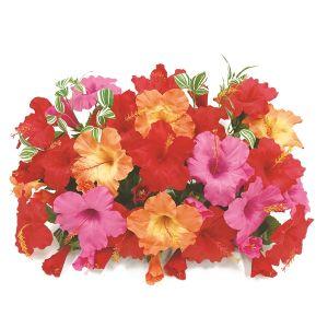 【フラワー装飾】フラワーベース ハイビスカス3色 レッドビューティーオレンジイメージ