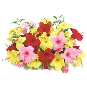 【フラワー装飾】フラワーベース ハイビスカス3色 イエローレッドピンクイメージ