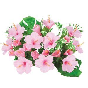 【フラワー装飾】島上造花装飾 ハイビスカスS ピンクイメージ