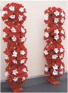 【フラワー装飾】フラワーアーチ・タワー ハイビスカス(レッド×ホワイト)イメージ3