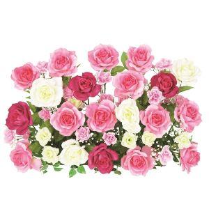 【フラワー装飾】フラワーベース ローズ&ローズ ピンクイメージ