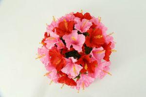 【フラワー装飾】フラワーパーツ・ハイビスカス(ピンク×レッド)イメージ