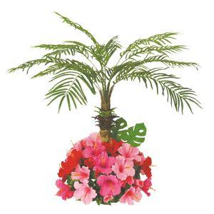 【フラワー装飾】島上用フェニックス ハイビスカス植え込み 100cmイメージ