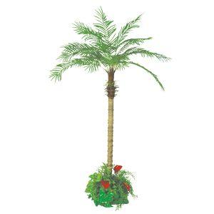 【フラワー装飾】フロア装飾フェニックス グリーン植え込み 210cmイメージ