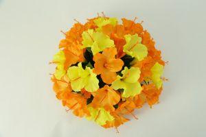 【フラワー装飾】フラワーパーツ・ハイビスカス(オレンジ×イエロー)イメージ