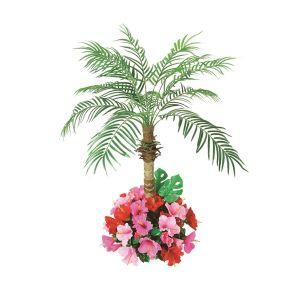 【フラワー装飾】フロア装飾フェニックス ハイビスカス植え込み 130cmイメージ