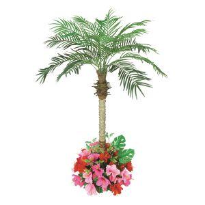 【フラワー装飾】フロア装飾フェニックス ハイビスカス植え込み 160cnイメージ