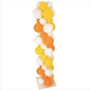 【バルーン装飾】バルーンスタンド デコボコ型3色ストライプイメージ
