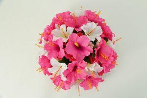 【フラワー装飾】フラワーパーツ・ハイビスカス(ピンク×ホワイト)イメージ