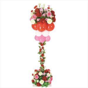 【バルーン装飾】バルーンスタンド フラワーデコタワー型ローズイメージ