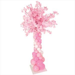 【バルーン装飾】バルーンスタンド トップフラワー型 桜大枝イメージ