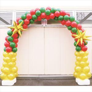 【バルーン装飾】バルーンアーチ シングルフレーム クリスマスVer.イメージ