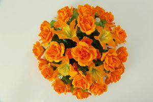【フラワー装飾】フラワーパーツ・バラ(オレンジ)イメージ
