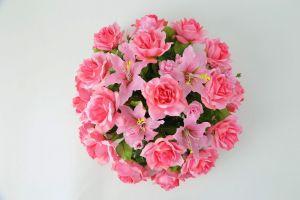 【フラワー装飾】フラワーアーチ・タワーフラワーパーツ ローズ(ピンク)イメージ