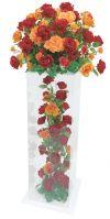 【フラワー装飾】アクリルボックスフラワー ジャンボローズオレンジレッドイメージ