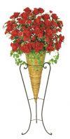 【フラワー装飾】デザインフラワースタンド ラウンドローズレッド&ニューコーンスタンドイメージ