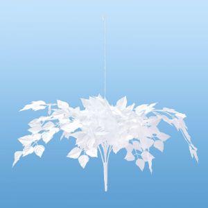 【冬装飾】センターしだれホワイトリーフ(6個セット)@1,540円イメージ