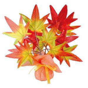 【秋装飾】ミニミニポットラップもみじイメージ