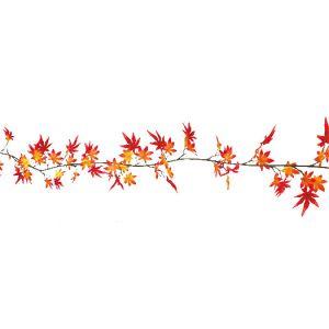 【秋装飾】立体紅葉ガーランドイメージ
