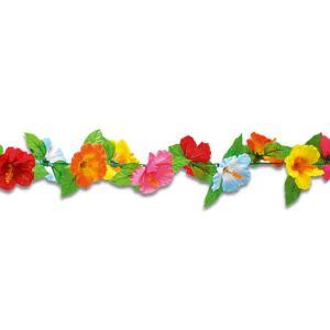 【夏装飾】ハイビスカスカラフルガーランド(12本セット)イメージ