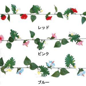 【夏装飾】ショートガーランドハイビスカス&プルメリア(24本セット)イメージ
