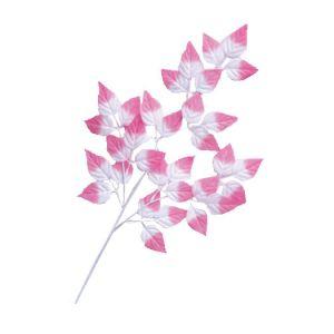 【冬装飾】ピンクリーフスプレー(24本セット)@126円イメージ