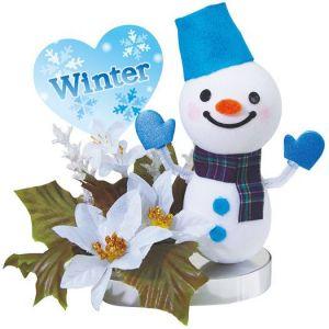 【冬装飾】スマイルスノーマンミニPOP(6個セット)@980円イメージ