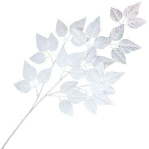 【冬装飾】ホワイトリーフスプレイ(24本セット)@210円イメージ