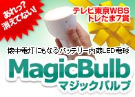 懐中電灯にもなるバッテリー内蔵LED電球 MagicBulb(マジックバルブ)