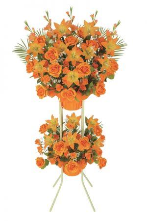 【フラワー装飾】開店祝いスタンド オールシーズン ローズ&リリーイメージ