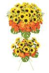【フラワー装飾】開店祝い造花スタンド 夏 ひまわりハイビスカスイメージ