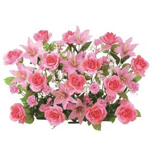 【フラワー装飾】フラワーベース ローズ&リリー ピンクイメージ