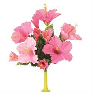 【フラワー装飾】島上フラワーホルダー装飾 ハイビスカス花束 ピンクビューティーイメージ