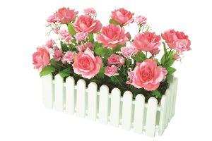【フラワー装飾】ウインドウプランター ローズピンク(入れ替え用)イメージ