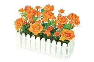 【フラワー装飾】ウインドウプランター ローズオレンジ(入れ替え用)イメージ