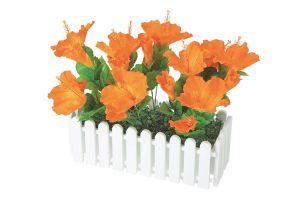 【フラワー装飾】ウインドウプランター ハイビスカスオレンジ(入れ替え用)イメージ